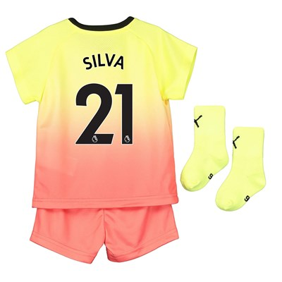 Manchester City Third Baby Kit 2019-20 with Silva 21 printing