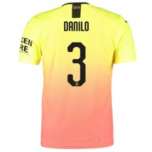 Manchester City Authentic Cup Third Shirt 2019-20 with Danilo 3 printing