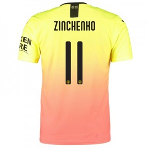Manchester City Authentic Cup Third Shirt 2019-20 with Zinchenko 11 printing