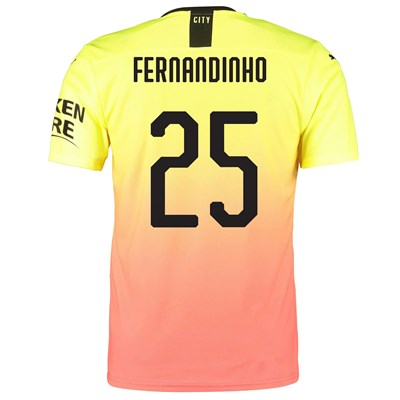 Manchester City Authentic Cup Third Shirt 2019-20 with Fernandinho 25 printing