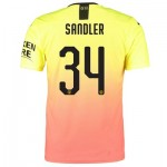 Manchester City Authentic Cup Third Shirt 2019-20 with Sandler 34 printing