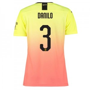 Manchester City Authentic Cup Third Shirt 2019-20 - Womens with Danilo 3 printing