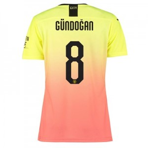 Manchester City Authentic Cup Third Shirt 2019-20 - Womens with Gündogan 8 printing