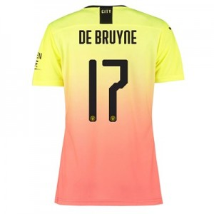 Manchester City Authentic Cup Third Shirt 2019-20 - Womens with De Bruyne 17 printing