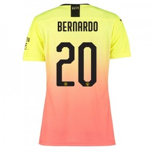 Manchester City Authentic Cup Third Shirt 2019-20 - Womens with Bernardo 20 printing