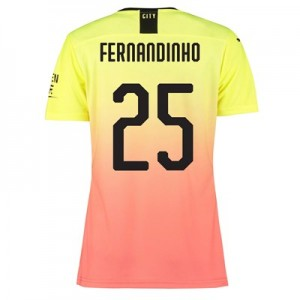 Manchester City Authentic Cup Third Shirt 2019-20 - Womens with Fernandinho 25 printing