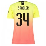 Manchester City Authentic Cup Third Shirt 2019-20 - Womens with Sandler 34 printing