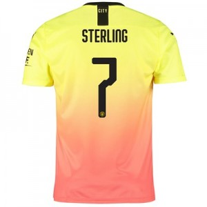 Manchester City Cup Third Shirt 2019-20 with Sterling 7 printing