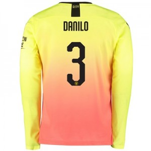 Manchester City Cup Third Shirt 2019-20 - Long Sleeve with Danilo 3 printing