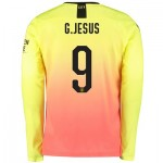 Manchester City Cup Third Shirt 2019-20 - Long Sleeve with G.Jesus 9 printing