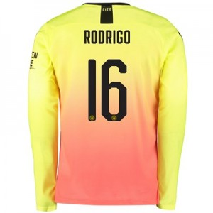 Manchester City Cup Third Shirt 2019-20 - Long Sleeve with Rodrigo 16 printing