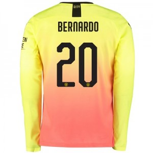 Manchester City Cup Third Shirt 2019-20 - Long Sleeve with Bernardo 20 printing