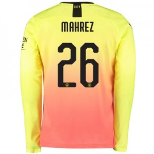 Manchester City Cup Third Shirt 2019-20 - Long Sleeve with Mahrez 26 printing