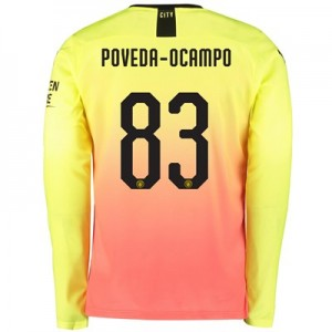 Manchester City Cup Third Shirt 2019-20 - Long Sleeve with Poveda-Ocampo 83 printing