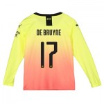 Manchester City Cup Third Shirt 2019-20 - Long Sleeve - Kids with De Bruyne 17 printing