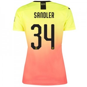 Manchester City Cup Third Shirt 2019-20 - Womens with Sandler 34 printing