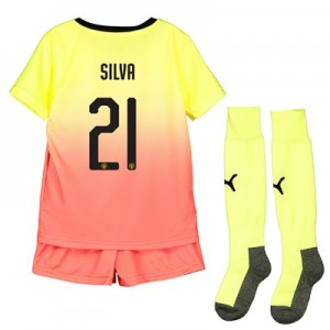 Manchester City Cup Third Mini Kit 2019-20 with Silva 21 printing