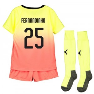 Manchester City Cup Third Mini Kit 2019-20 with Fernandinho 25 printing