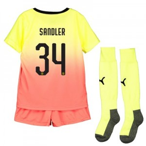 Manchester City Cup Third Mini Kit 2019-20 with Sandler 34 printing