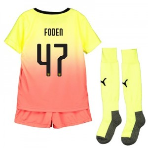 Manchester City Cup Third Mini Kit 2019-20 with Foden 47 printing