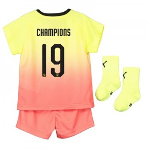 Manchester City Cup Third Baby Kit 2019-20 with Champions 19 printing