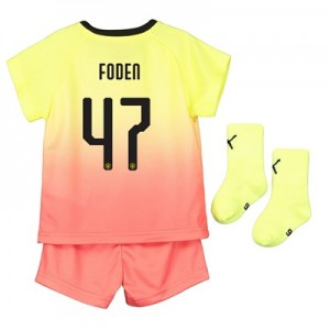 Manchester City Cup Third Baby Kit 2019-20 with Foden 47 printing