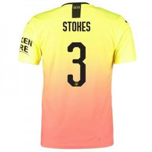 Manchester City Authentic Cup Third Shirt 2019-20 with Stokes 3 printing
