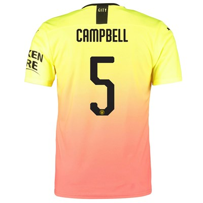 Manchester City Authentic Cup Third Shirt 2019-20 with Campbell 5 printing
