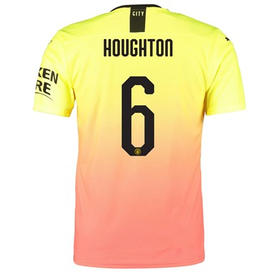 Manchester City Authentic Cup Third Shirt 2019-20 with Houghton 6 printing
