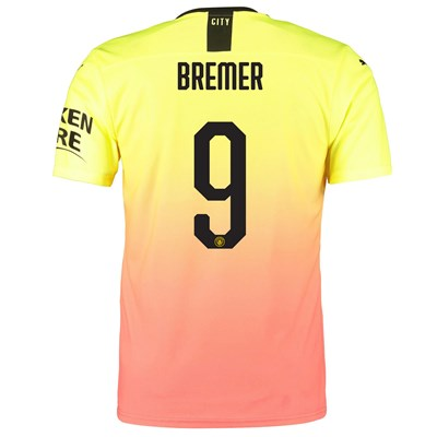 Manchester City Authentic Cup Third Shirt 2019-20 with Bremer 9 printing