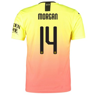Manchester City Authentic Cup Third Shirt 2019-20 with Morgan 14 printing