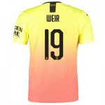 Manchester City Authentic Cup Third Shirt 2019-20 with Weir 19 printing