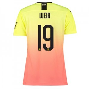 Manchester City Authentic Cup Third Shirt 2019-20 - Womens with Weir 19 printing