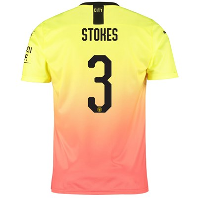 Manchester City Cup Third Shirt 2019-20 with Stokes 3 printing
