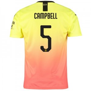 Manchester City Cup Third Shirt 2019-20 with Campbell 5 printing