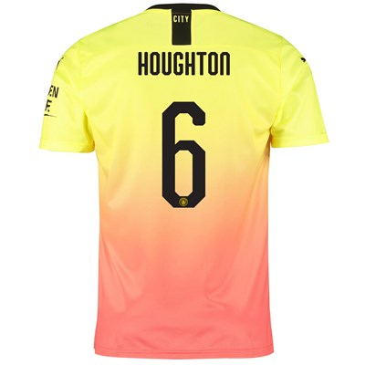 Manchester City Cup Third Shirt 2019-20 with Houghton 6 printing