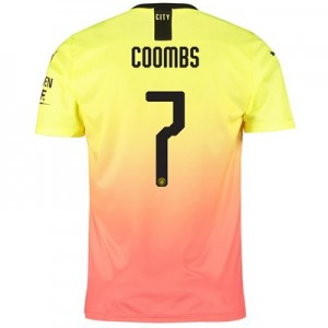 Manchester City Cup Third Shirt 2019-20 with Coombs 7 printing