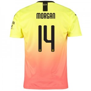 Manchester City Cup Third Shirt 2019-20 with Morgan 14 printing