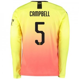 Manchester City Cup Third Shirt 2019-20 - Long Sleeve with Campbell 5 printing