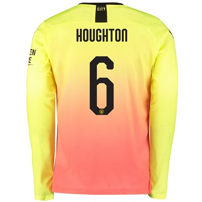 Manchester City Cup Third Shirt 2019-20 - Long Sleeve with Houghton 6 printing