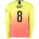 Manchester City Cup Third Shirt 2019-20 - Long Sleeve with Scott 8 printing