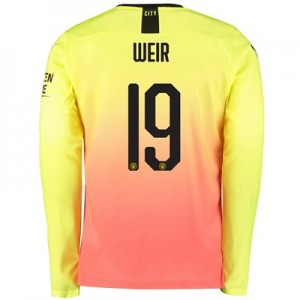 Manchester City Cup Third Shirt 2019-20 - Long Sleeve with Weir 19 printing