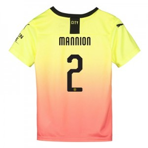 Manchester City Cup Third Shirt 2019-20 - Kids with Mannion 2 printing