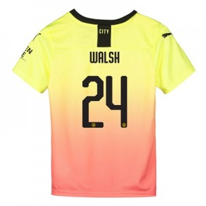 Manchester City Cup Third Shirt 2019-20 - Kids with Walsh 24 printing