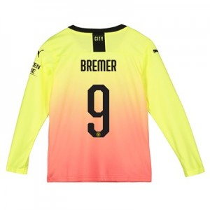 Manchester City Cup Third Shirt 2019-20 - Long Sleeve - Kids with Bremer 9 printing