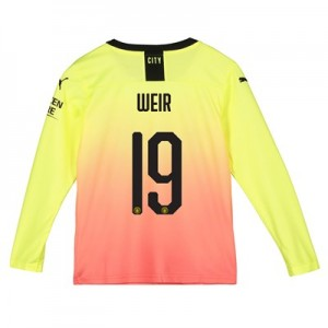 Manchester City Cup Third Shirt 2019-20 - Long Sleeve - Kids with Weir 19 printing