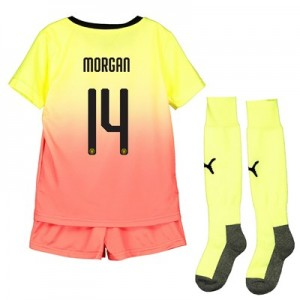 Manchester City Cup Third Mini Kit 2019-20 with Morgan 14 printing