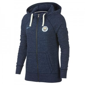 Manchester City Vintage Hoodie - Dark Blue - Womens