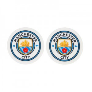 Manchester City Rubber Coasters - Pack of Two