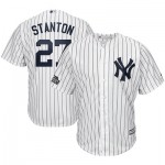 New York Yankees London Series 2019 Giancarlo Stanton Majestics Home Cool Base Replica Player Jersey - Mens